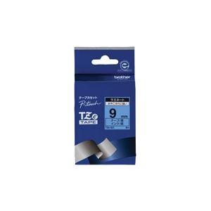 【送料無料】(業務用30セット) brother ブラザー工業 文字テープ/ラベルプリンター用テープ 【幅:9mm】 TZe-521 青に黒文字