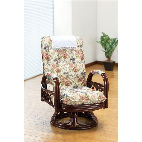 【送料無料】天然籐リクライニング回転座椅子 ハイタイプ【代引不可】
