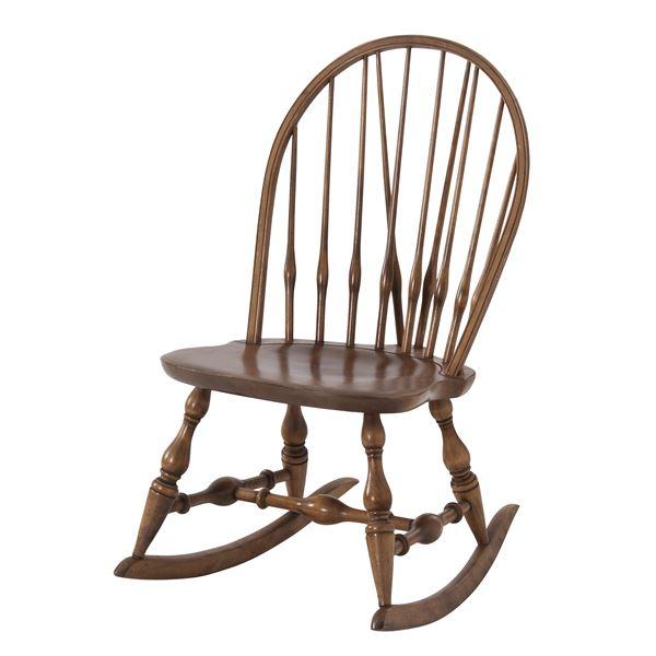 【送料無料】天然木ロッキングチェア(揺り椅子) 座面高37cm アンティーク調 『ティンバー』 TTF-909