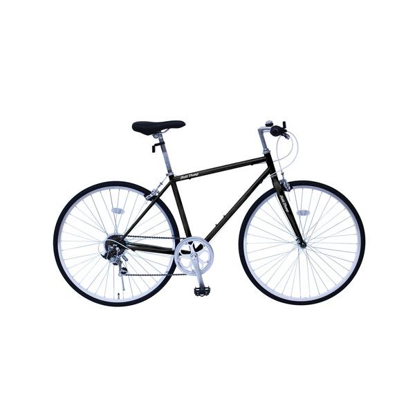 【送料無料】6段変速 クロスバイク 【ブラック】 700C スチール 幅169cm×奥行53cm×高さ100cm サドル83cm~101cm 重量17kg 『FIELD CHAMP』【代引不可】