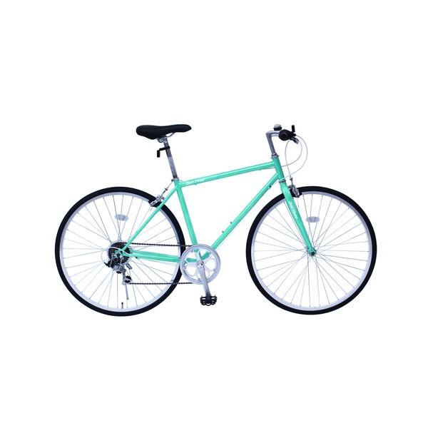 【送料無料】6段変速 クロスバイク 【グリーン】 700C スチール 幅169cm×奥行53cm×高さ100cm サドル83cm~101cm 重量17kg 『FIELD CHAMP』【代引不可】