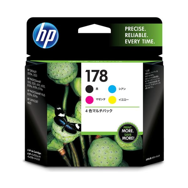 【送料無料】(まとめ) HP178 インクカートリッジ 4色マルチパック CR281AA 1箱(4個:各色1個) 【×3セット】