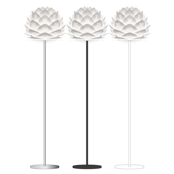 スタンドライト(フロアライト/照明器具) 北欧 ELUX(エルックス) VITA Silvia ホワイト(白)×ブラックベース 【電球別売】【代引不可】