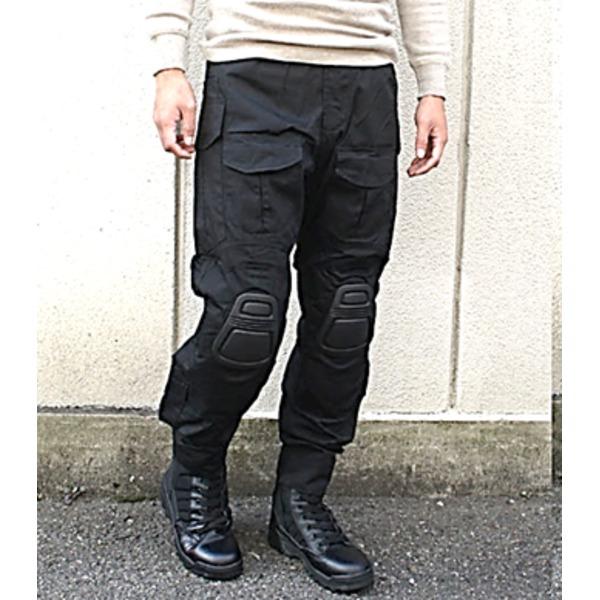 【送料無料】ニーガード付G3タクティカルパンツ ブラック M