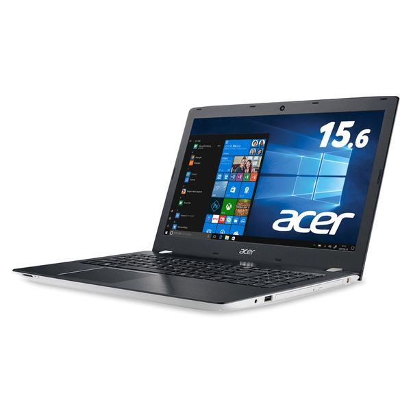 Acer Aspire E 15 E5-576-F78G/W (Corei7-7500U/8GB/1TB/DVD±R/RWドライブ/15.6型/Windows 10Home(64bit)/Officeなし/マーブルホワイト)