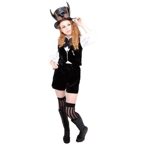 【送料無料】コスプレ衣装/コスチューム 【Rabbit Boy ラビットボーイ】 シャツ ベスト パンツ付き 『STEAMPUNK』 〔ハロウィン イベント〕
