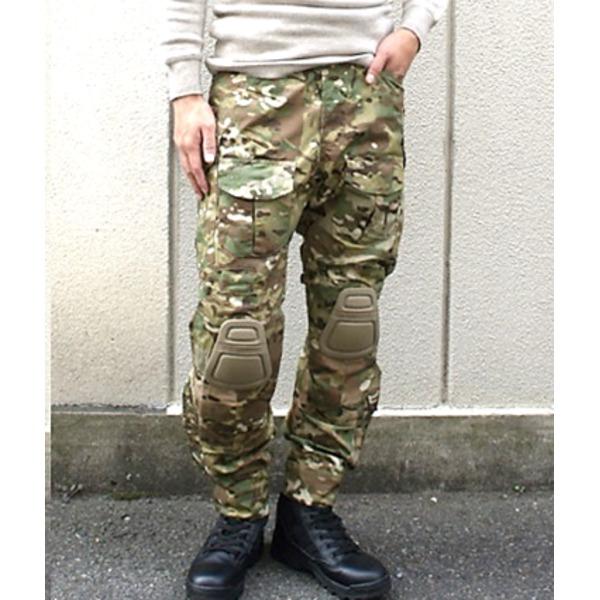 【送料無料】ニーガード付G3タクティカルパンツ マルチ S