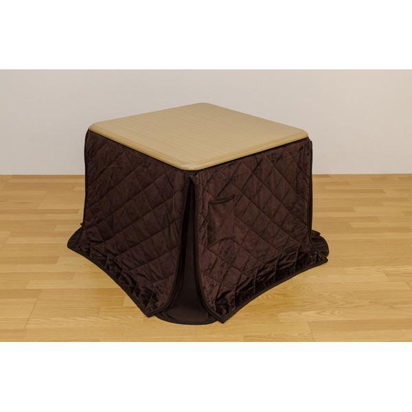 【送料無料】ダイニングこたつテーブル 【掛け布団セット】 正方形 85cm×85cm ナチュラル【代引不可】