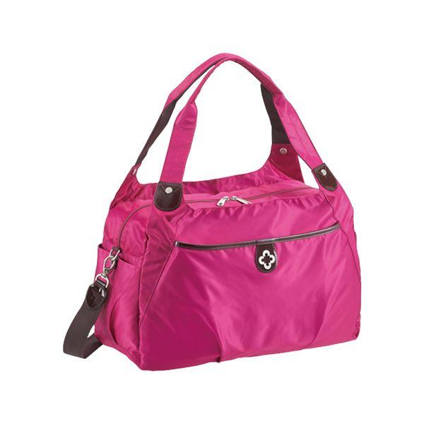 【送料無料】【マリクレール】 ボストンバッグ/旅行バッグ 【ピンク】 2~3泊用 ナイロン製 〔トラベル 旅 遠出〕【代引不可】