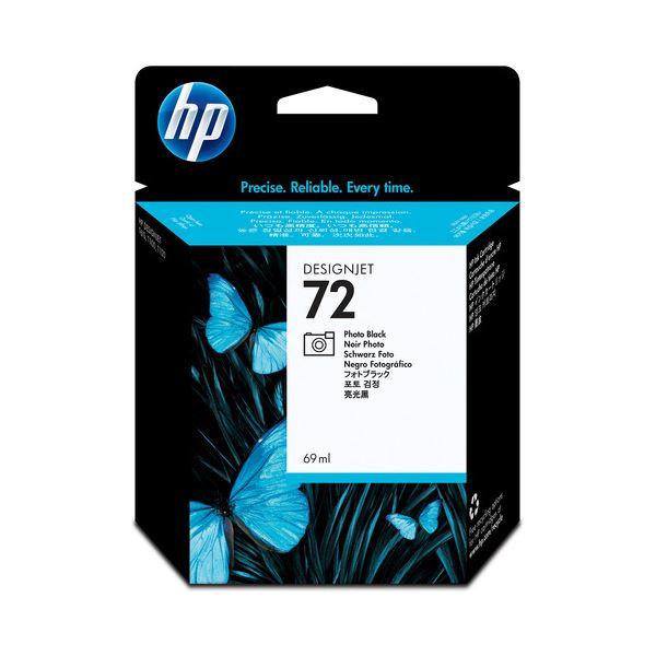 (まとめ) HP72 インクカートリッジ フォトブラック 69ml 染料系 C9397A 1個 【×3セット】
