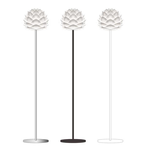【送料無料】スタンドライト(フロアライト/照明器具) 北欧 ELUX(エルックス) VITA Silvia mini ブラックベース 【電球別売】【代引不可】
