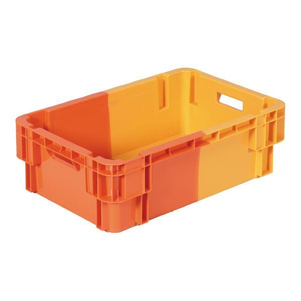 【送料無料】(業務用10個セット)三甲(サンコー) SNコンテナ/2色コンテナボックス 【Bタイプ】 #31W オレンジ×オレンジ【代引不可】