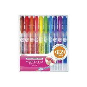 【送料無料】(業務用50セット) ZEBRA ゼブラ 蛍光ペン 蛍光オプテックス1 EZ 【10色セット】 つめ替え式 WKS11-10C