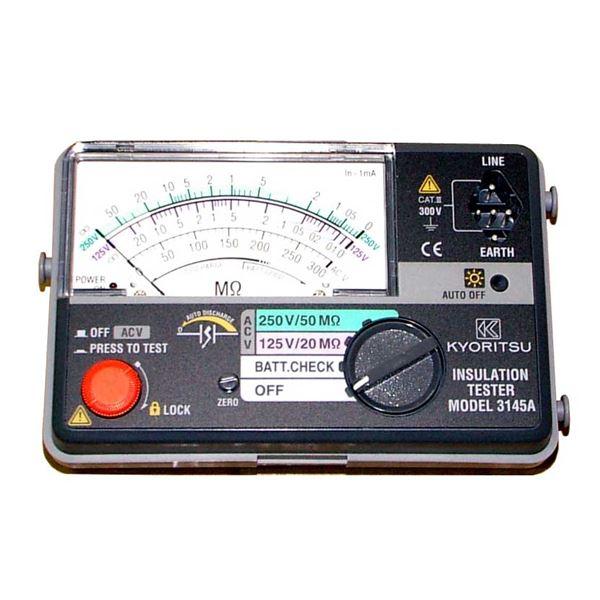 【送料無料】共立電気計器 キューメグ 2レンジ小型絶縁抵抗計 3145A【代引不可】