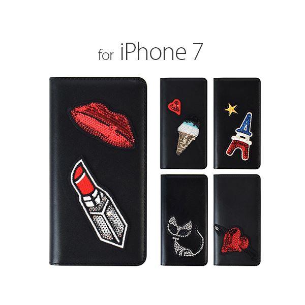 GAZE iPhone7 Spangle エッフェル塔
