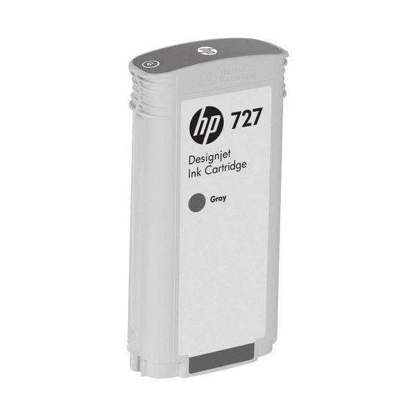 (まとめ) HP727 インクカートリッジ 染料グレー 130ml B3P24A 1個 【×3セット】