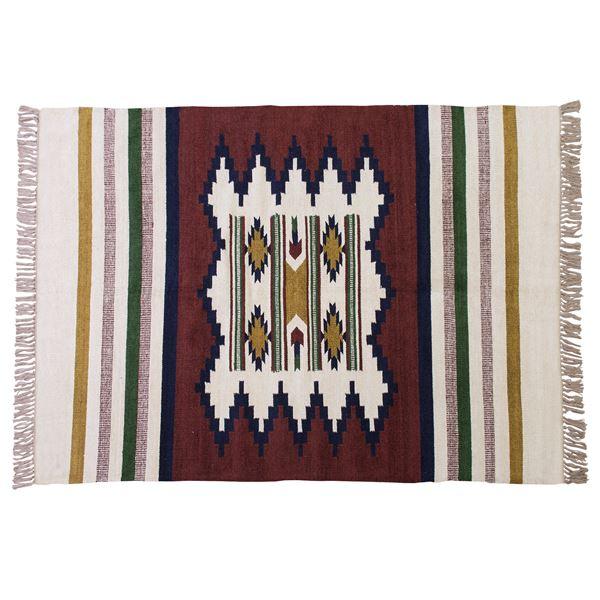 【送料無料】キリムラグマット/絨毯 【190cm×130cm】 長方形 ビスコース コットン TTR-106C