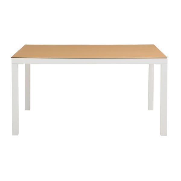 【送料無料】あずま工芸 TOCOM interior(トコムインテリア) ダイニングテーブル 強化ガラス天板 135×80cm【2梱包】 ナチュラル GDT-7636【代引不可】