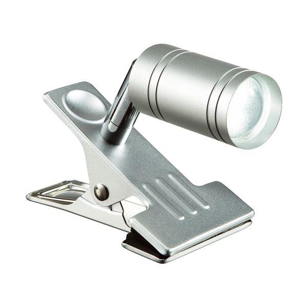 (まとめ) オーム電機 LEDクリップライト 約4.5W 昼白色 LTL-C6N-S 1台 【×2セット】
