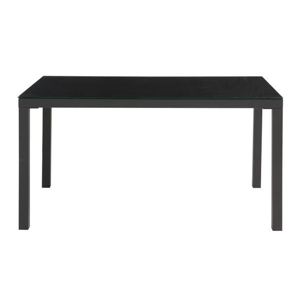 【送料無料】あずま工芸 TOCOM interior(トコムインテリア) ダイニングテーブル 強化ガラス天板 135×80cm【2梱包】 ブラック GDT-7639【代引不可】