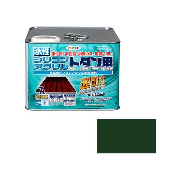 【送料無料】アサヒペン AP 水性シリコンアクリルトタン用 7L 緑