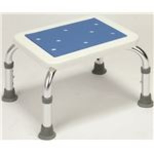 【送料無料】シャワーベンチ&ステップセット(シャワーチェアー ) アルミ製 高さ段階調整可 (入浴用品/介護用品)【代引不可】