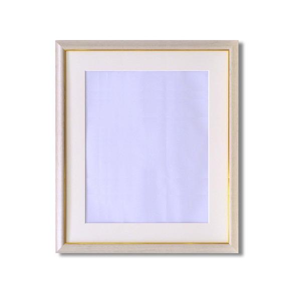 【送料無料】水彩額縁/フレーム 【F10号/白木】 壁掛けひも/アクリル/マット付き 化粧箱入り 8125