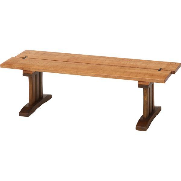 【送料無料】木目調 ダイニングベンチ/ベンチ 【幅115cm】 木製 『楔』 〔什器 カフェ〕【代引不可】