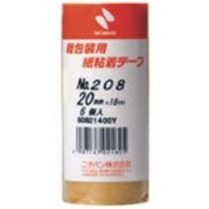 【送料無料】(業務用50セット) ニチバン 紙粘着テープ 208-20 20mm×18m 6巻