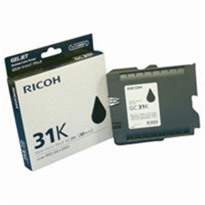 【送料無料】(業務用5セット) RICOH(リコー) ジェルジェットカートリッジ GC31Kブラック