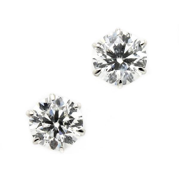 【送料無料】ダイヤモンド ピアス プラチナ Pt900 0.6ct ダイヤピアス Dカラー SI2 Excellent EXハート&キューピット エクセレント 鑑定書付き