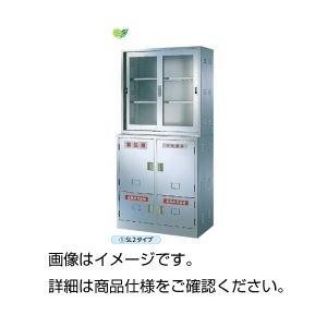 【送料無料】ステンレス薬品庫 SL2K(上・下段セット)
