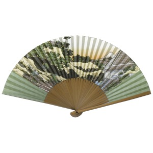 紳士用扇子75型35間【5本セット】富嶽三十六景 草