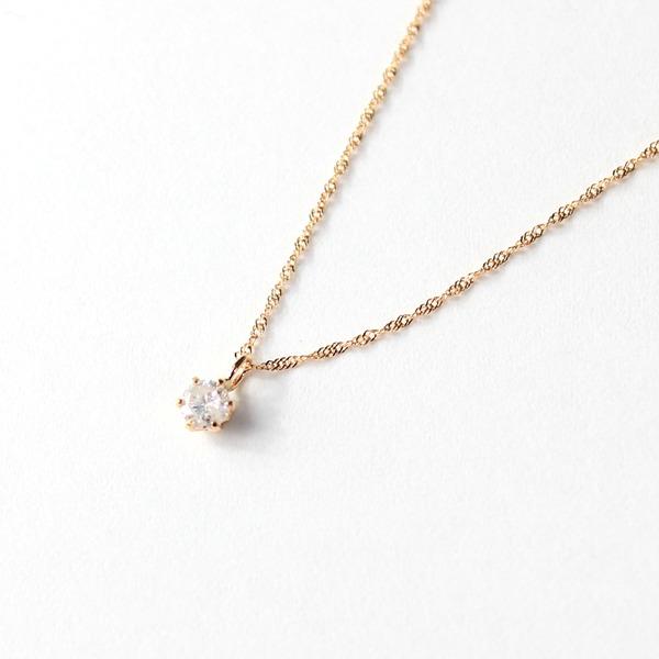 【送料無料】18金 ピンクゴールド ダイヤモンド 0.1ct 0.1ct ペンダント ネックレス【代引不可】, ホロカナイチョウ:11450f5f --- ww.thecollagist.com