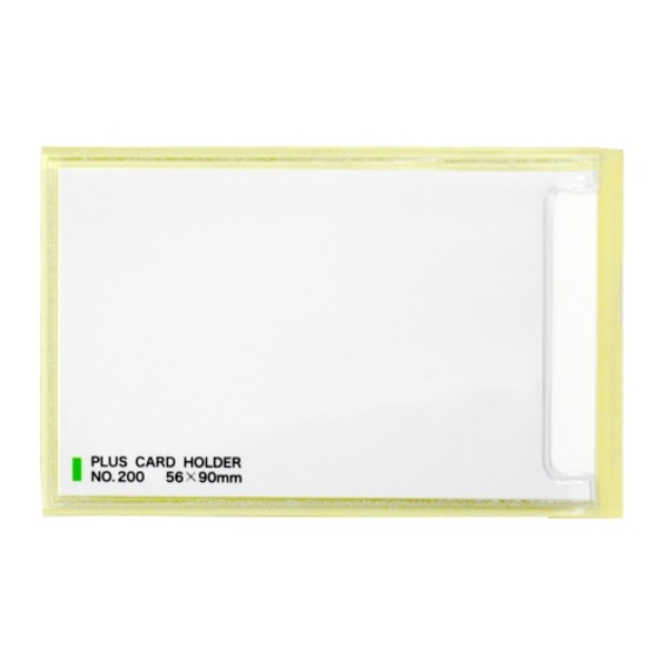 【送料無料】(業務用10セット) プラス 粘着剤付カードホルダー LA-200ST 100枚