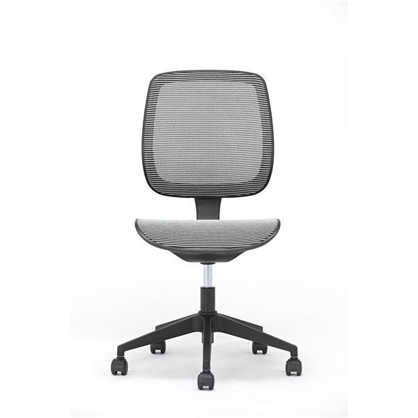 【送料無料】座面昇降式オフィスチェア/デスクチェア 【メッシュ素材×ホワイト】 キャスター付き 『ブリーズ』【代引不可】