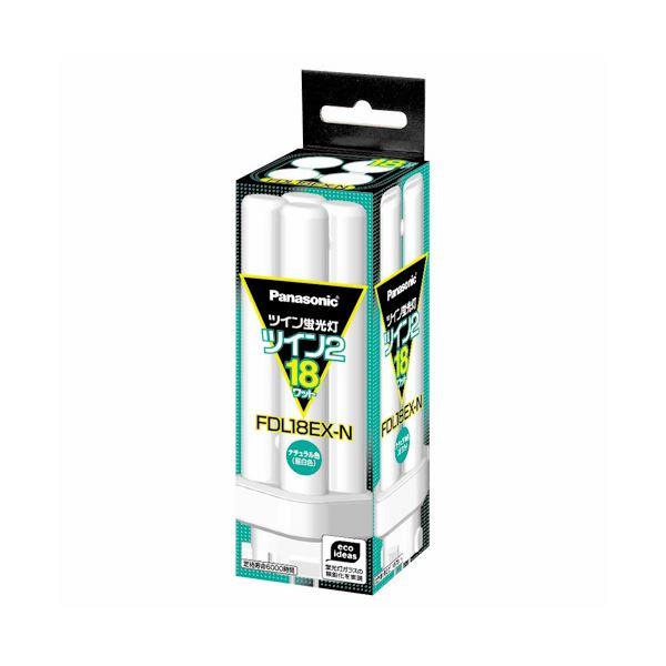 (まとめ) パナソニック ツイン蛍光灯 ツイン2 18W形 昼白色 FDL18EX-N(1個) 【×6セット】