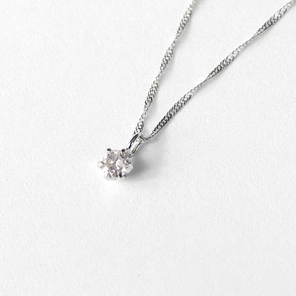 【送料無料】18金 ホワイトゴールド【送料無料】18金 ホワイトゴールド ダイヤモンド 0.1ct ペンダント ネックレス 0.1ct【代引不可】, R30Direct:c0df7e1f --- ww.thecollagist.com