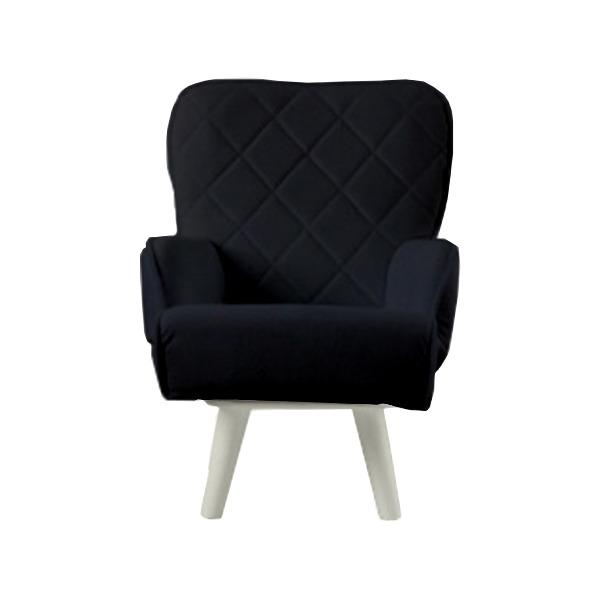 【送料無料】Liloudecoco リルデココ 回転ローチェアー(ポケット付)ブラック 姫系 キルティング 椅子 一人掛け ソファー 高座椅子