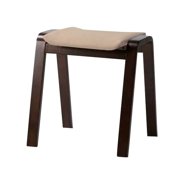 【送料無料】(4脚セット) スタッキングスツール/腰掛け椅子 ベージュ TSC-117BE