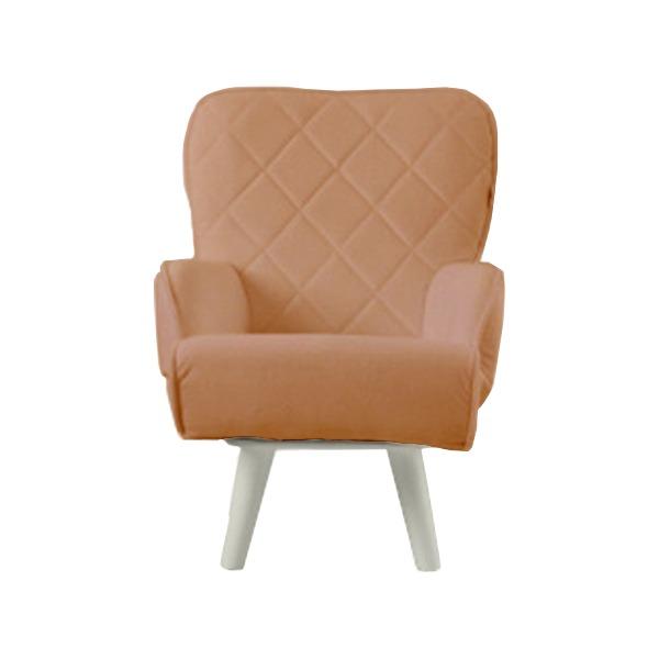 【送料無料】Liloudecoco リルデココ 回転ローチェアー(ポケット付)キャメル 姫系 キルティング 椅子 一人掛け ソファー 高座椅子