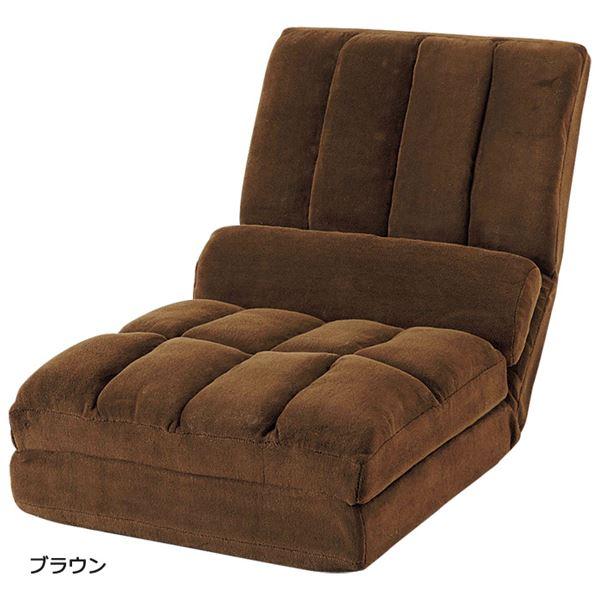 【送料無料】3WAY リクライニングソファー 【1人掛け】 ブラウン ハイバック クッション2個付き