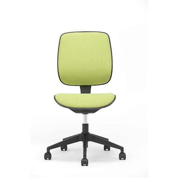 【送料無料】座面昇降式オフィスチェア/デスクチェア 【ファブリック素材×グリーン】 キャスター付き 『ブリーズ』【代引不可】