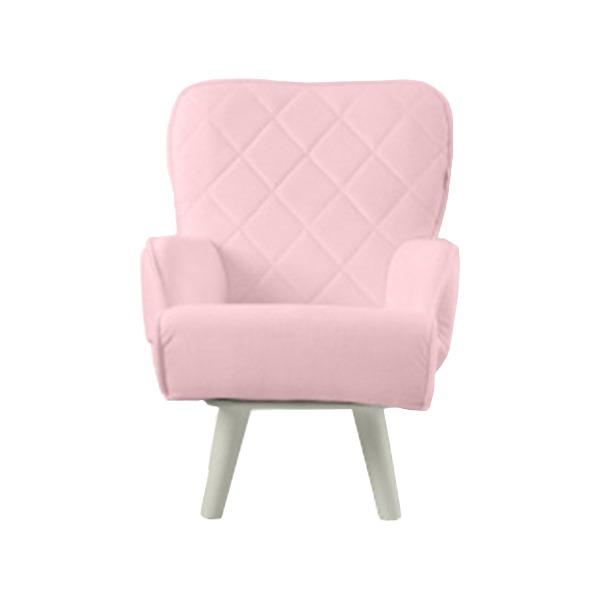 【送料無料】Liloudecoco リルデココ 回転ローチェアー(ポケット付)ピンク 姫系 キルティング 椅子 一人掛け ソファー 高座椅子