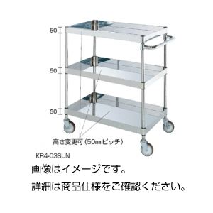 【送料無料】ステンレスパールワゴンBR4-03SUN