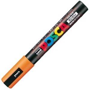 【送料無料】(業務用200セット) 三菱鉛筆 ポスカ/POP用マーカー 【中字/橙】 水性インク PC-5M.4