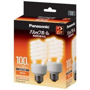 【送料無料】(まとめ) パナソニック パルックボール D形 100W形 E26 電球色 EFD25EL20E2T 1パック(2個) 【×2セット】