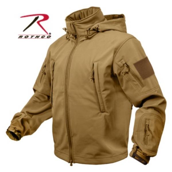 【送料無料】ROTHCO(ロスコ) スペシャルOP S タクティカルソフトシェルジャケット ROGT9745 コヨーテ ブラウン L