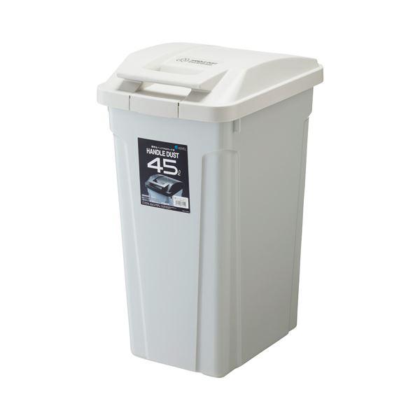 【送料無料】(まとめ) アスベル SPハンドル付ダストボックス 45L ホワイト 1個 【×2セット】【同梱・代引不可】