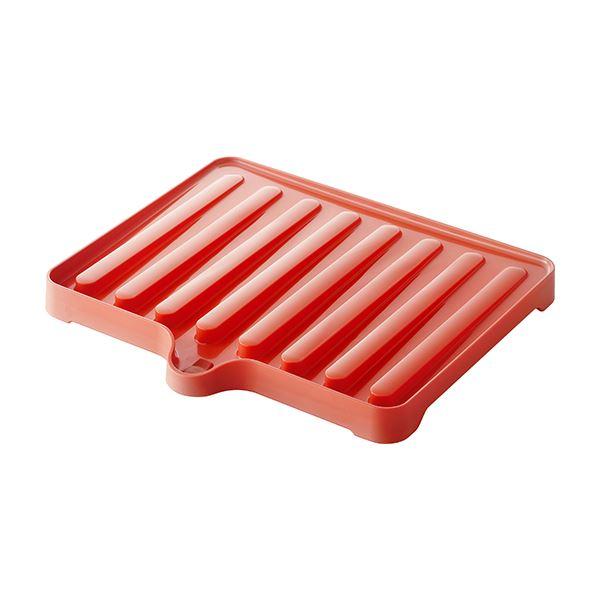 【送料無料】【50セット】 ドレーナー/水切り器具 【レッド】 38.4×34×3.5cm 本体:PP 『リベラリスタ』【代引不可】
